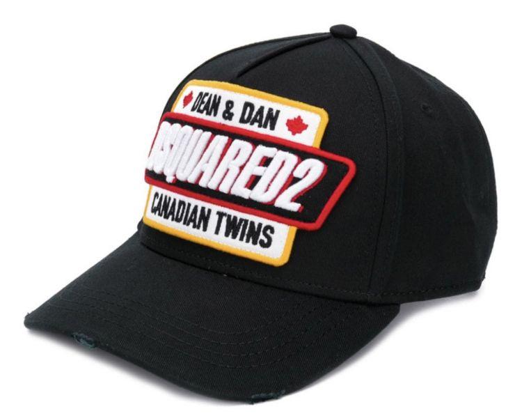 DSQUARED2 casquette noir à patch logo