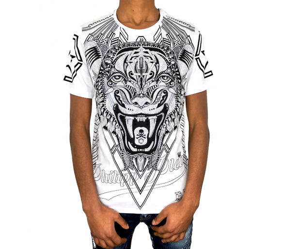 "T-Shirt Round Neck SS ""Psychological "" philipp plein"