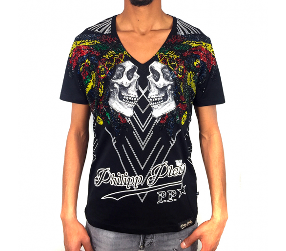 "T-Shirt V-Neck SS ""Alo"" philipp plein"