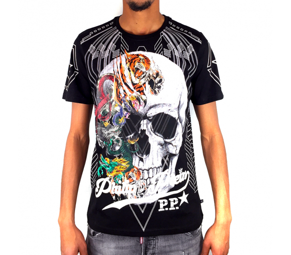 "T-Shirt Round Neck SS ""Animal skull"" philipp plein"