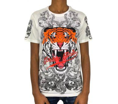 """Philipp plein T-shirt Round Neck SS """"Philipp tiger"""""""