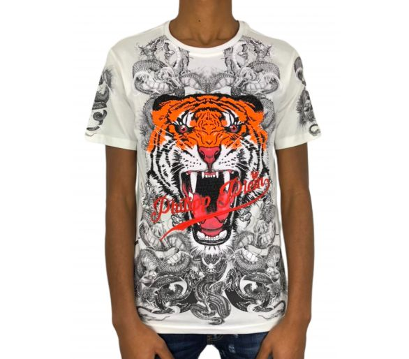 "Philipp plein T-shirt Round Neck SS ""Philipp tiger"""