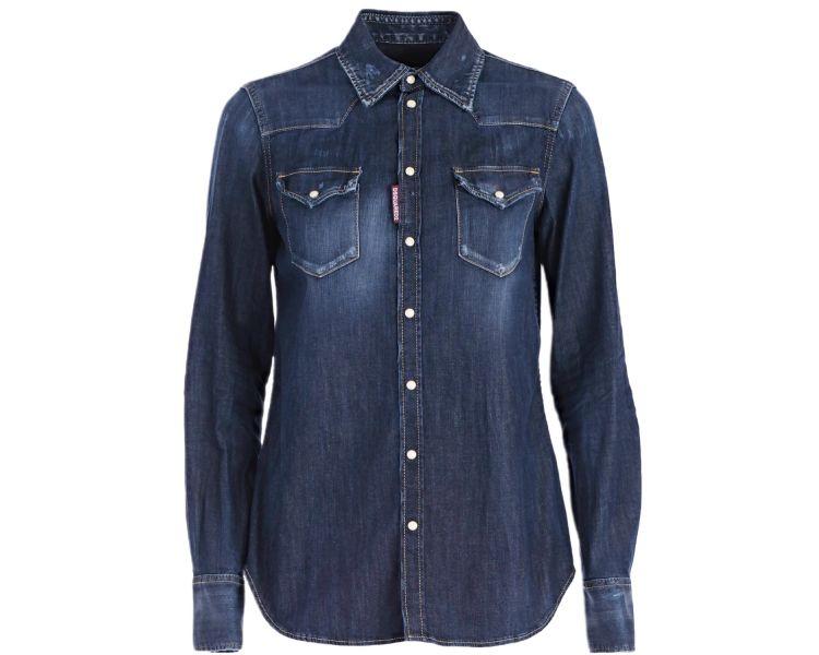 Chemise Jeans DSQUARED2 Bleu