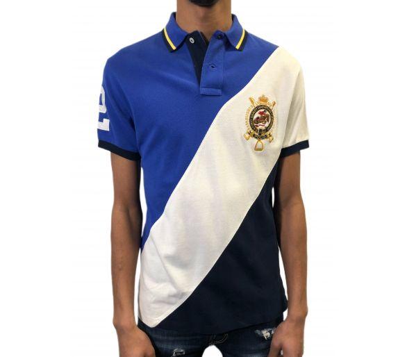 Polo RALPH LAUREN bleu/blanc