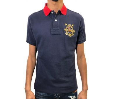 Polo RALPH LAUREN blanc/rouge