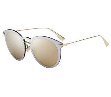 DIOR lunette effet miroir doré