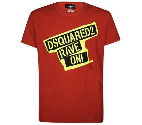 DSQUARED2 T-shirt rouge/jaune