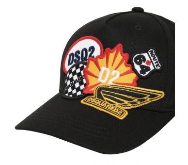 DSQUARED2 casquette patch noir