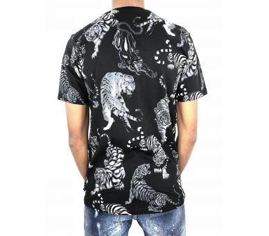 """Philipp plein T-shirt Round Neck SS """"Tiger skull """""""