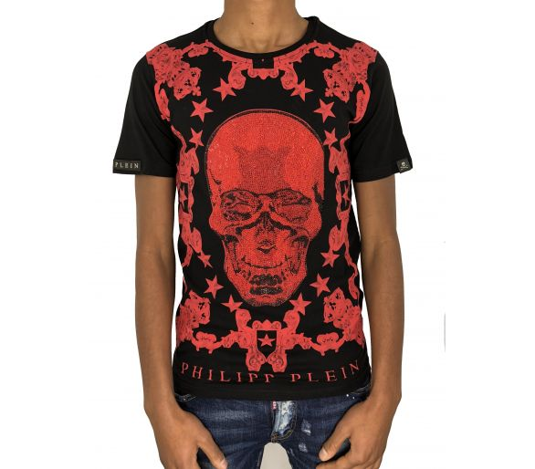 "philipp plein T-shirt Round Neck FW ""Red"""