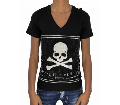 "Philipp plein T-shirt V Neck SS ""Much"""