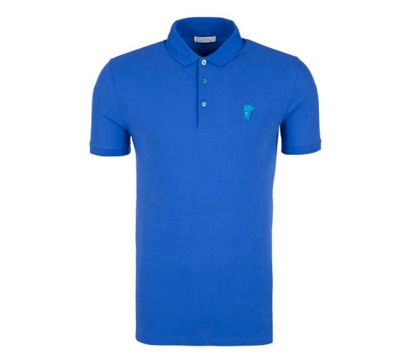 VERSACE collection polo bleu