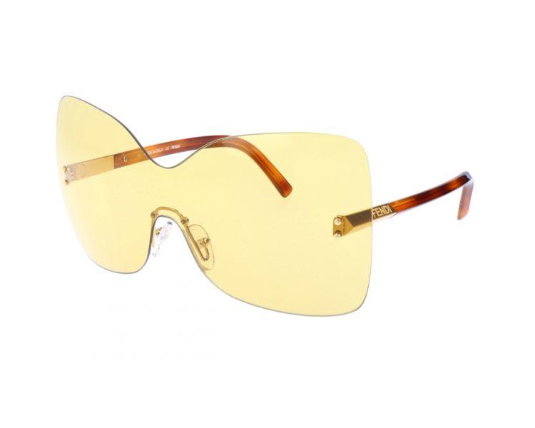 FENDI Lunettes de soleil femme Marron et doré - Une Marque Un Style 830f86f804f3