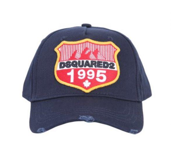 DSQUARED2 casquette bleu marine